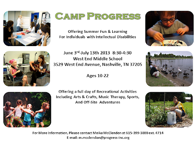 Camp Progress, camps for kids with disabilities, summer