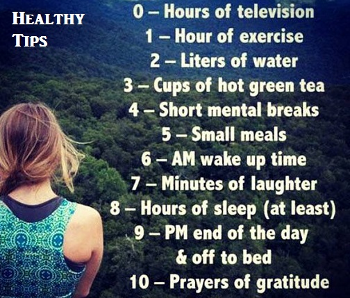 HEALTHY TIP METHOD TO FOLLOW DAILY
