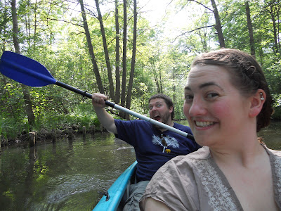 friends canoeing