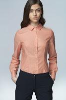 Camasa eleganta, de culoare somon, cu maneci lungi ( )
