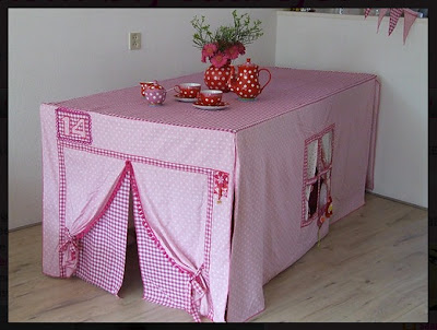 Tablecloth tent
