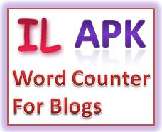 APK Word Counter v 1.0  Free Software to Counting Words, Characters and Lines for Blogs