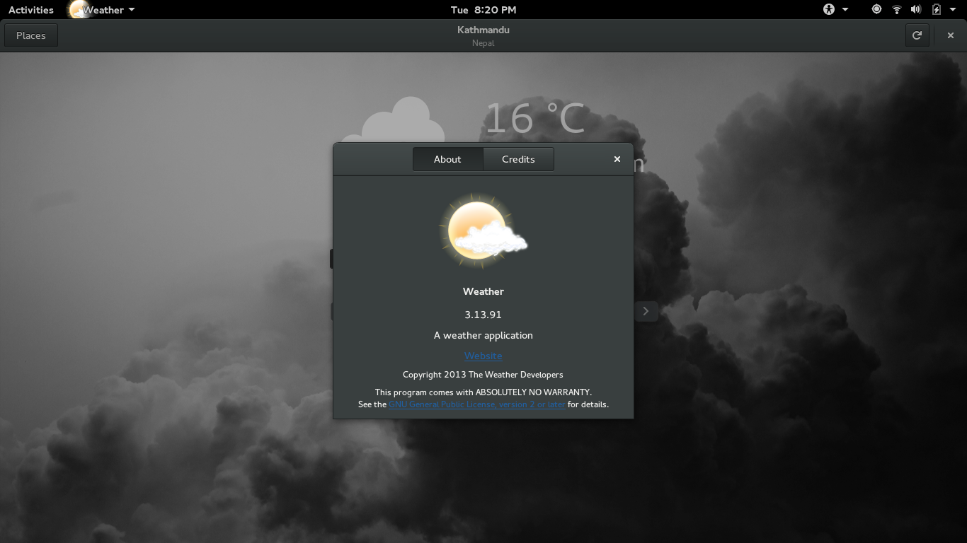 g weather app