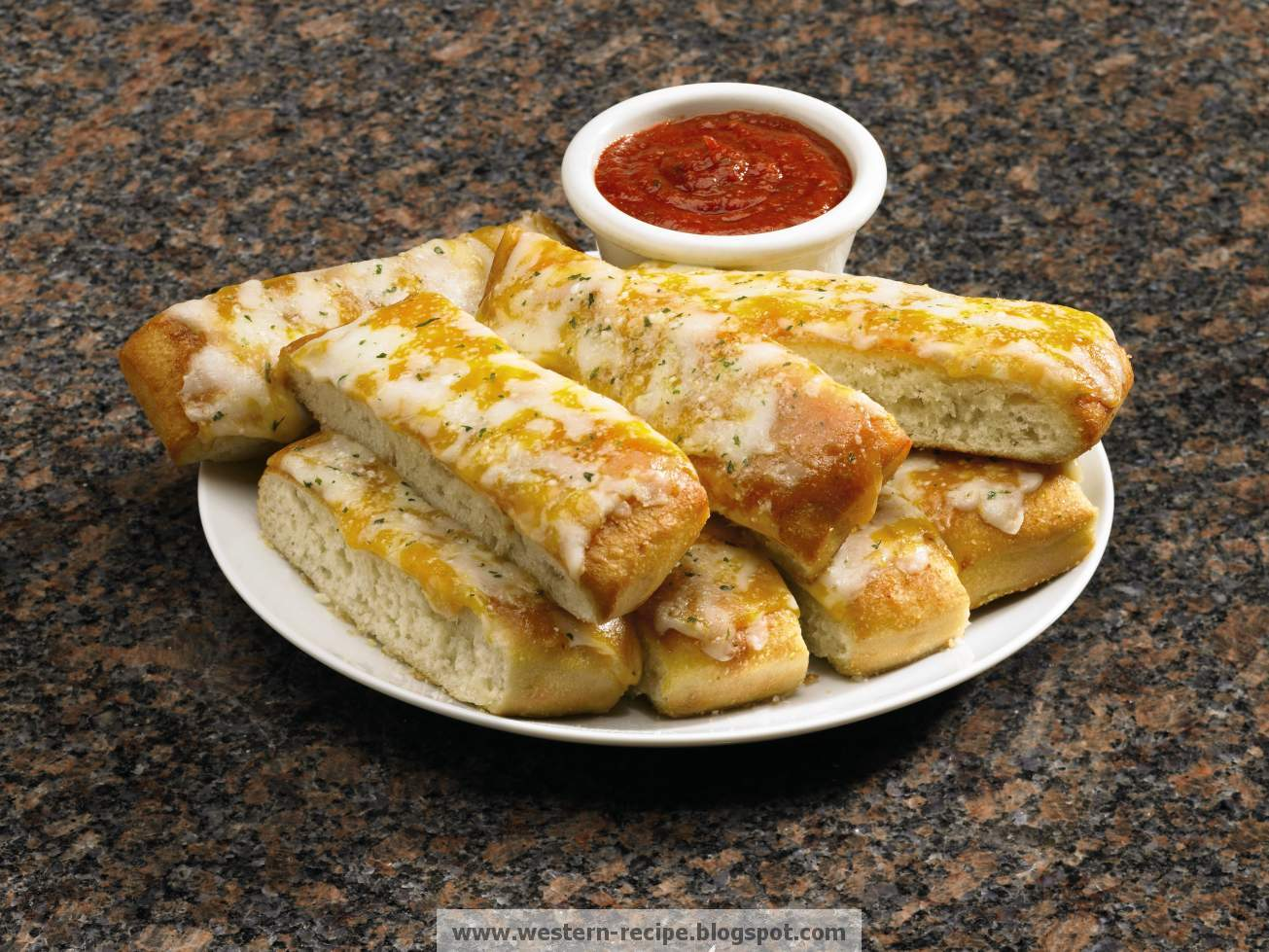 Western Food Recipe: Cheesy Bread