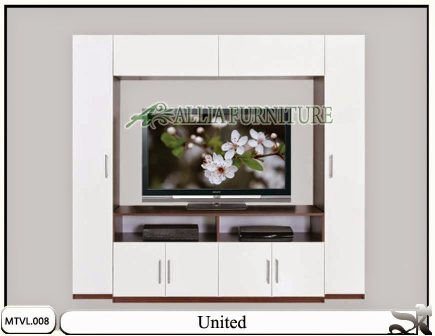 Lemari model tv lcd minimalis united