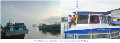 menuju pulau tidung dari Pelabuhan Muara Angke
