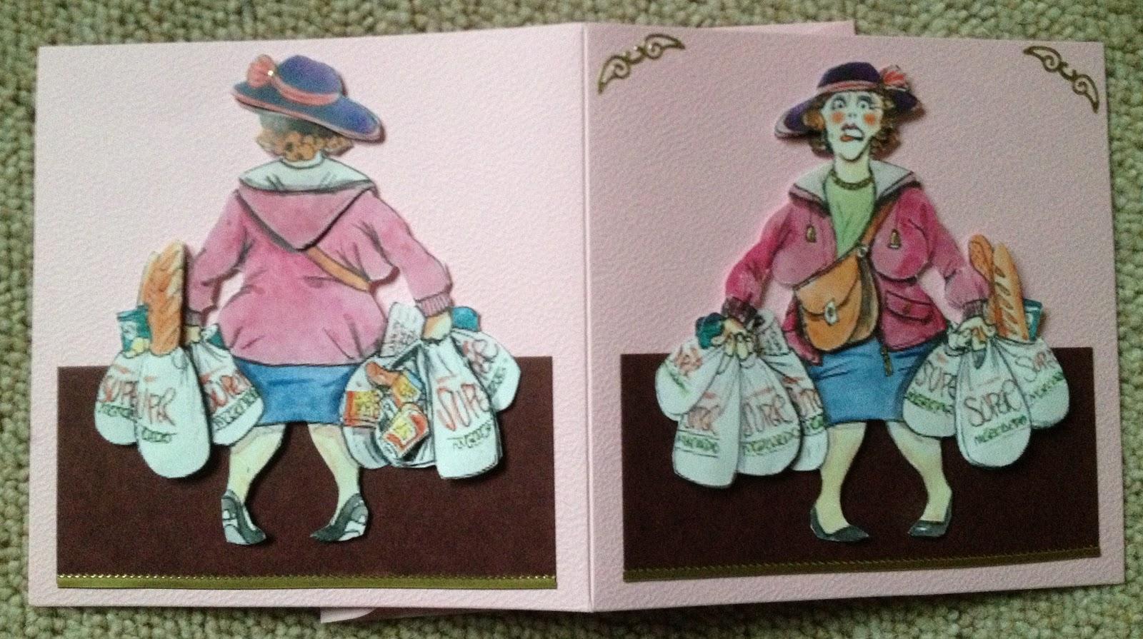 Mirages Bastelstube Karte Fur Eine Shoppingqueen Gutscheinkarte