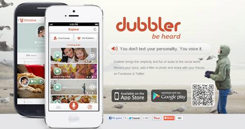 envia voice clips gratis con Dubbler - www.dominioblogger.com