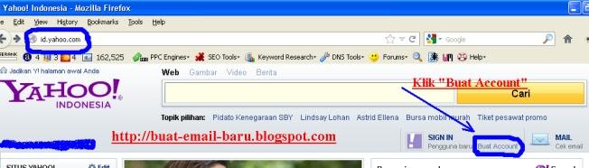Lalu klik Buat Account (lihat gambar panah & lingkaran). Jika kurang ...
