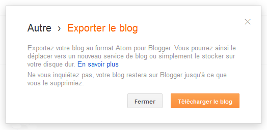 export blog blogger draft
