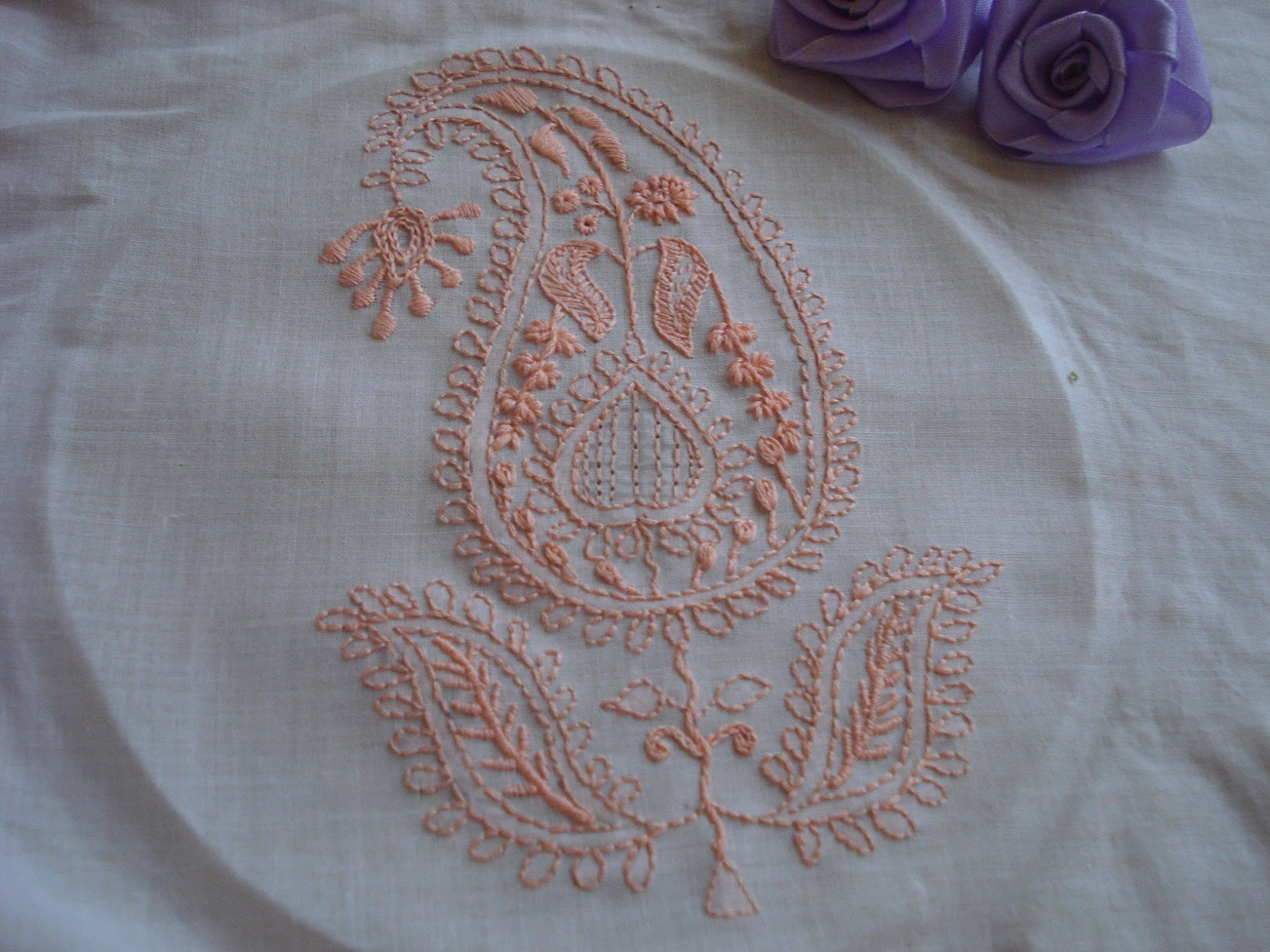 Creative crafts from zova chikan embroidery sal finished