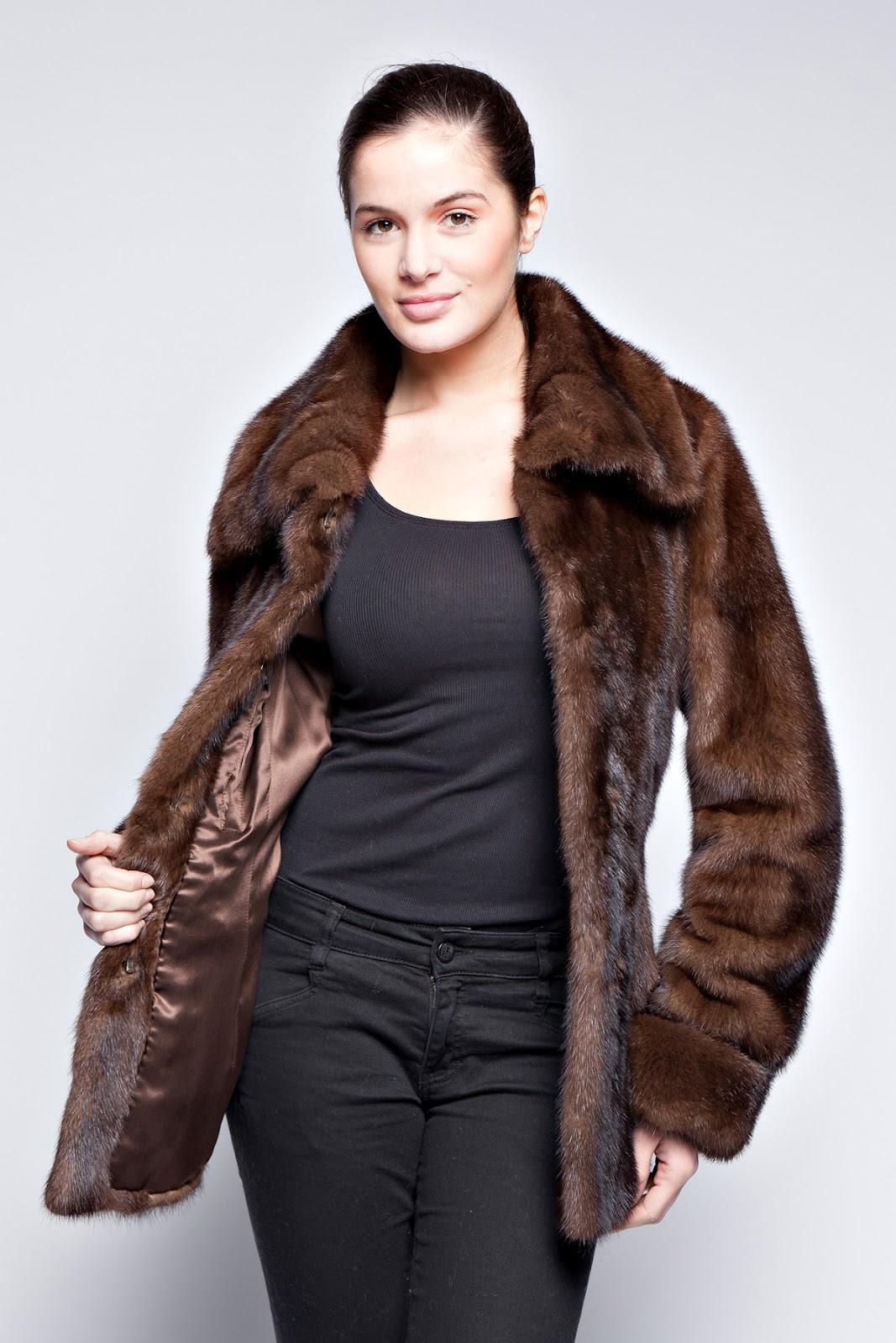 sublime veste en fourrure de vison mara manteau fourrure. Black Bedroom Furniture Sets. Home Design Ideas