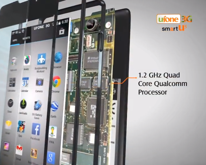 Ufone SmartU5 Mobile Price in Pakistan - Features Specification Rate