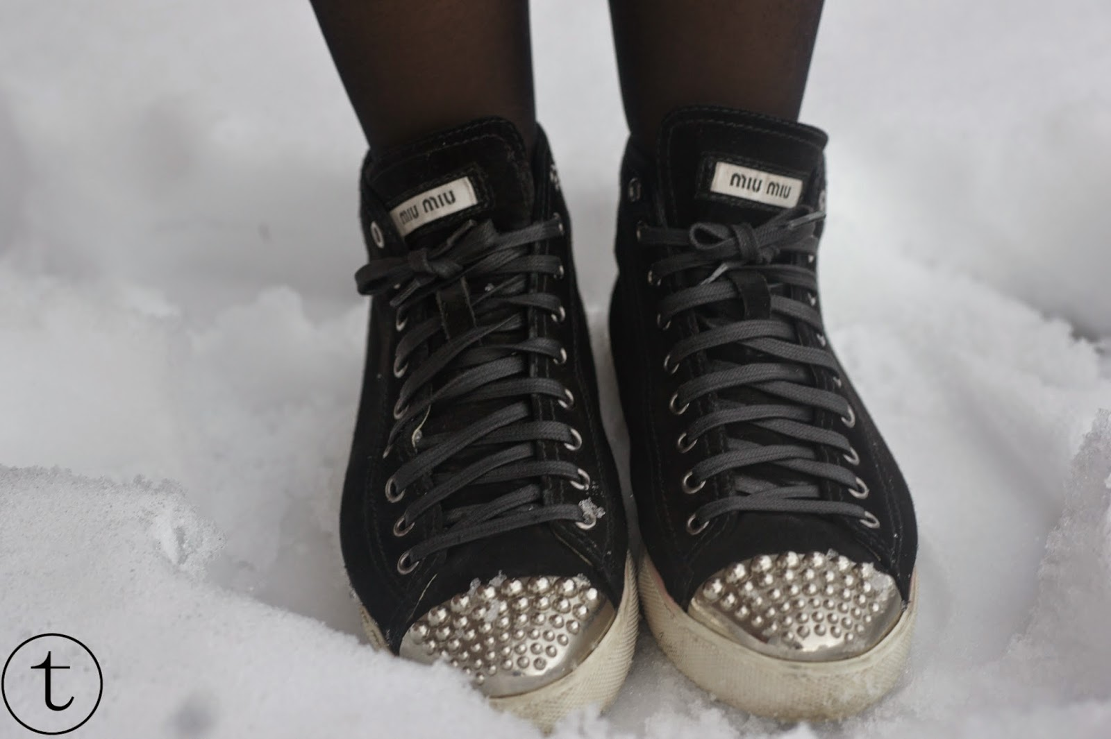 miu miu sneakers with studs