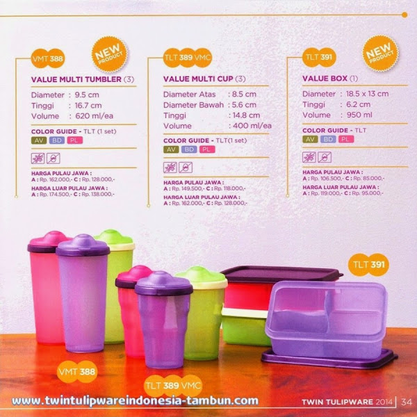 Value Multi Tumbler, Value Multi Cup, Value Box, Value Line, Produk Baru 2014