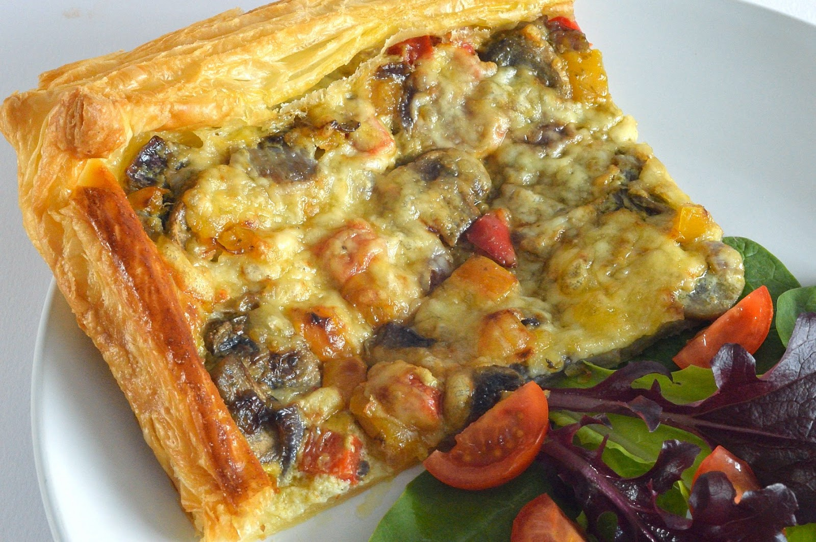 Utterly Scrummy Food For Families: Creamy Mushroom Tart