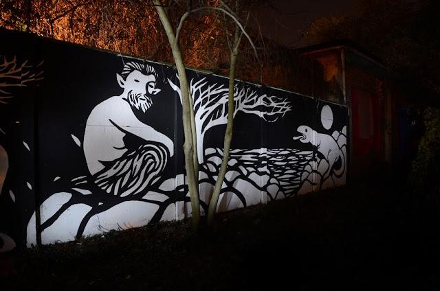 """Panismo"" New Street Art Piece By Italian Artist MP5 In Torino. 6"