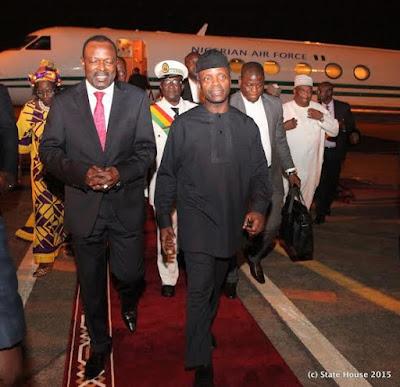 Osinbajo Represents Buhari at the Swearing in Ceremony of Guinea President - PHOTOS