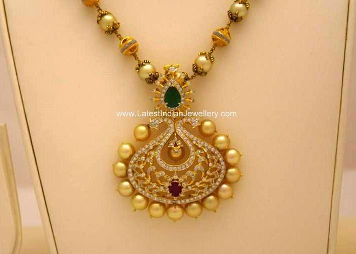 Diamond Pearls Fancy Pendant