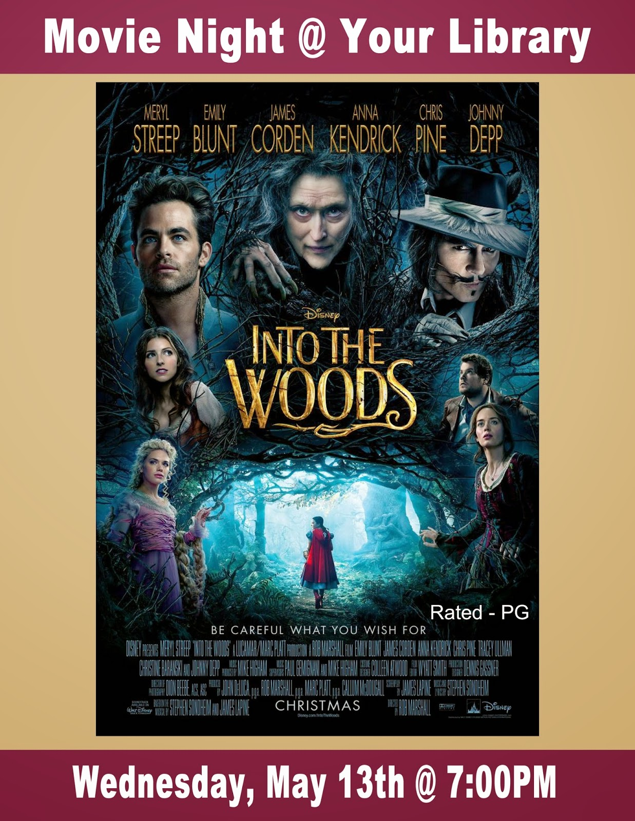 "Movie Night @ Your Library: ""Into the Wild,"" May 13,2015"