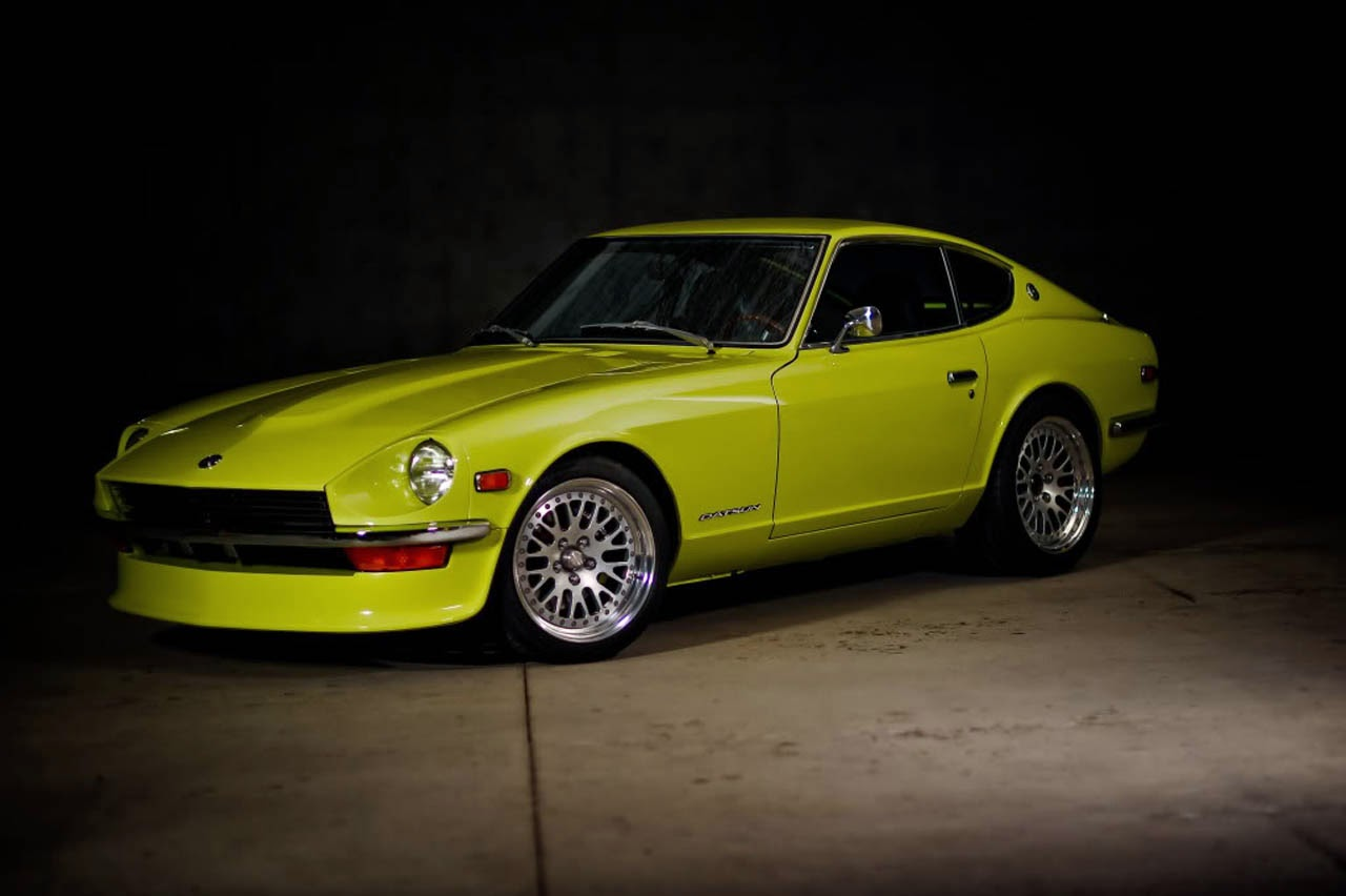 1972 datsun 240z lime green auto restorationice. Black Bedroom Furniture Sets. Home Design Ideas