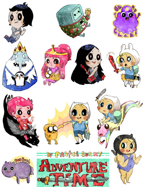 Adventure Time minis por Pasuteru-Usagi