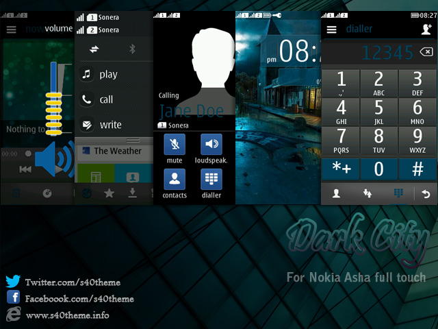 Dark,city,theme,for,Nokia,Asha,311,Asha,310,Asha,309,Asha,308,Asha,306