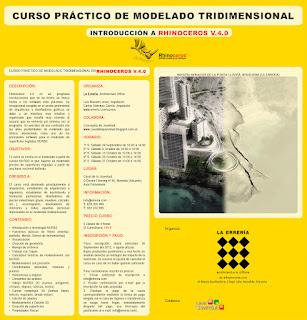 Ayuntamiento de Novelda cartel_rhinoceros CURSO PRÁCTICO DE MODELADO TRIDIMENSIONAL