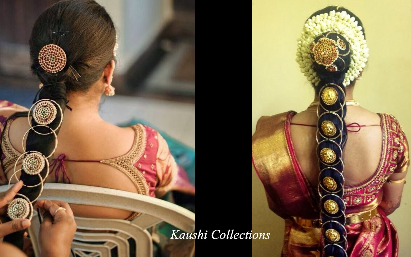 Hair accessories for wedding online india - South Indian Bridal Hair Accessories Jada Billalu