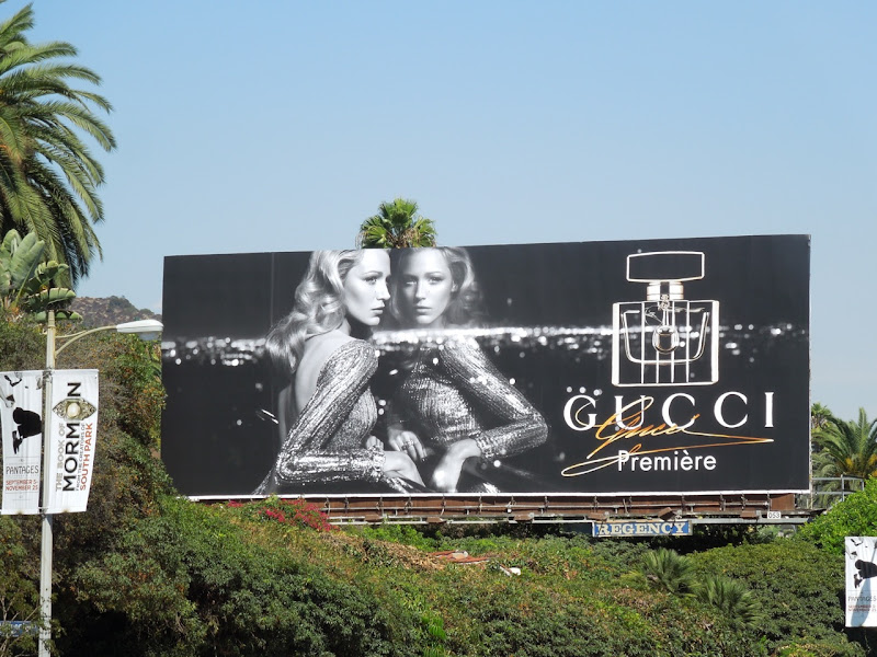 Blake Lively Gucci premiere fragrance billboard