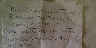 """Surat Diego Mendieta untuk Tuhan"" Beredar di Twitter"