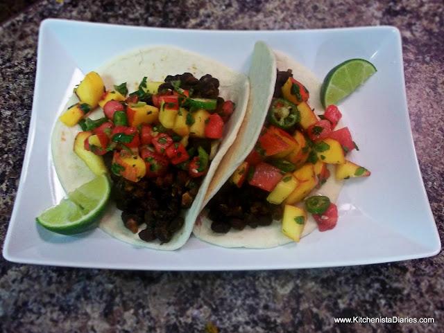 Watermelon & Peach Salsa (and 2 bonus taco recipes!) - The Kitchenista ...