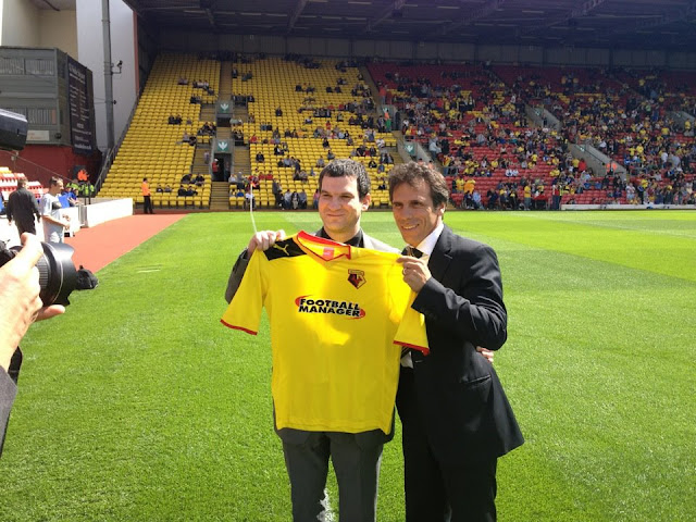 Gianfranco Zola & Miles Jacobson - WATFORD FOOTBALL CLUB