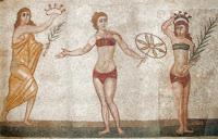 Römische Frauen im Bikini / Römische Bademode