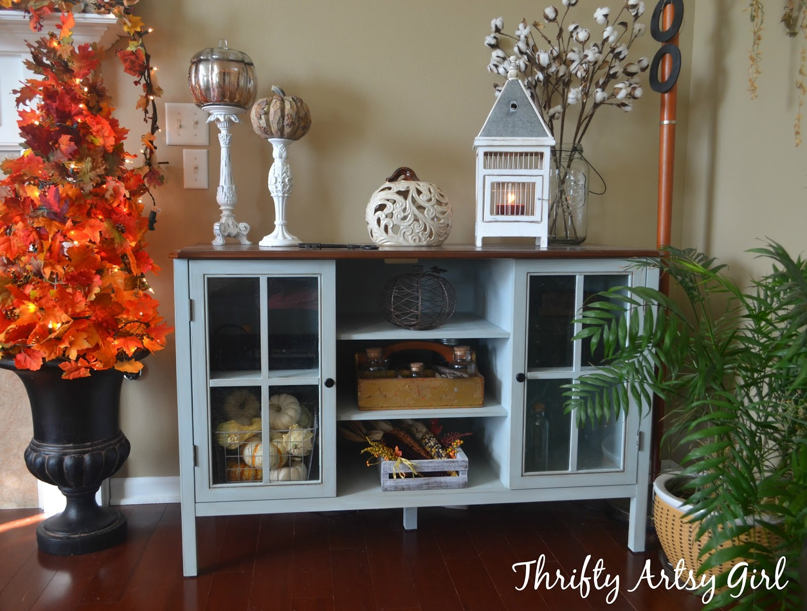 Exceptional DIY Big Box Store Furniture Makeover: Blue Grey Chalk Painted Media Cabinet  Take Two