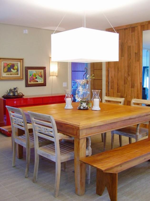 Sala De Jantar Com Banco ~ Mesas quadradas!!  Jeito de Casa  Blog de Decoração