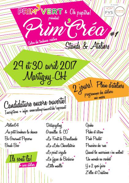 Prim'Créa Avril 2017 / J'y serai !