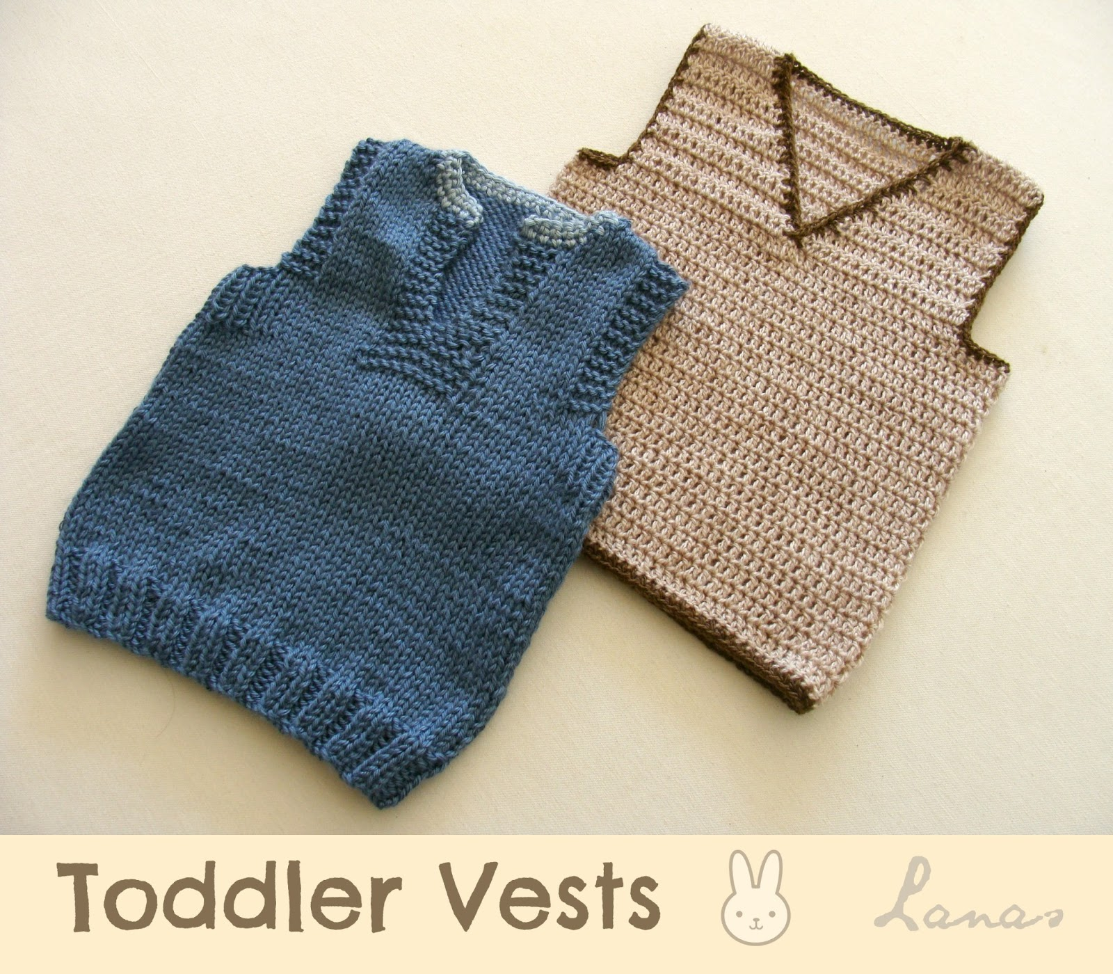 Knitting Patterns For Toddlers Vest : Lanas de Ana: Baby: 2 Vests