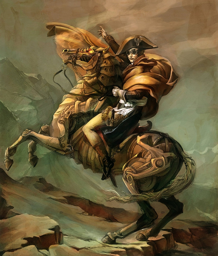The steampunk tribune steampunk facebook pages part 2 for Napoleon horse painting