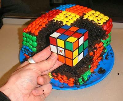 Bánh hình khối game Rubic