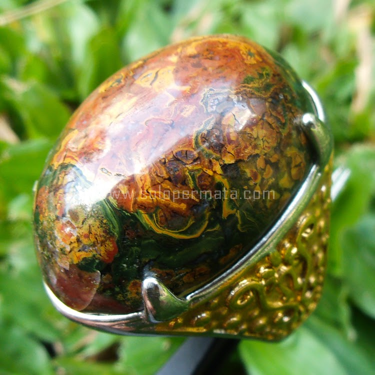 Cincin Batu Akik Klawing Pancawarna - SP452