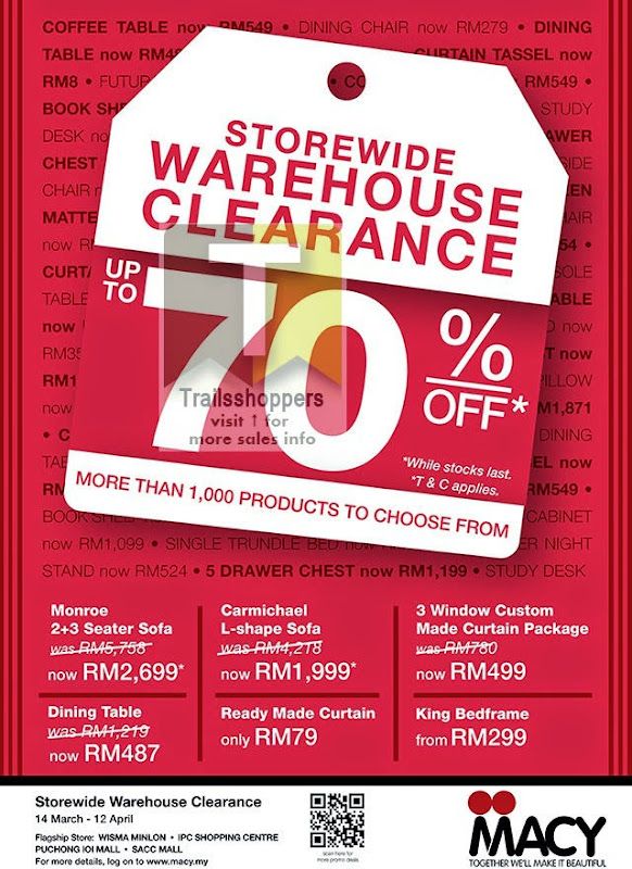 Macy's Furniture Outlet Clearance (5 Image)