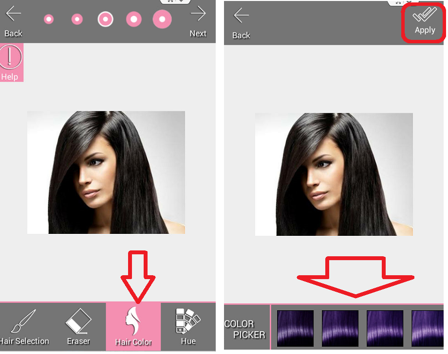 Learn New Things Change Your Picture Hair Color In Android Phone See How Yo