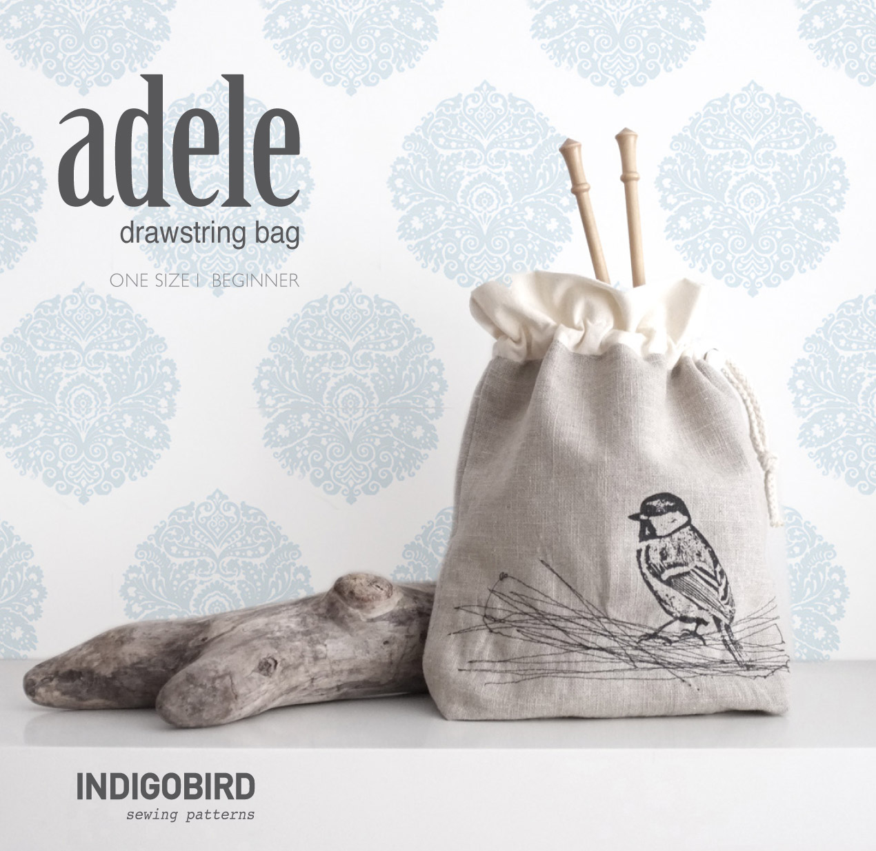 Adele Drawstring Bag Pattern