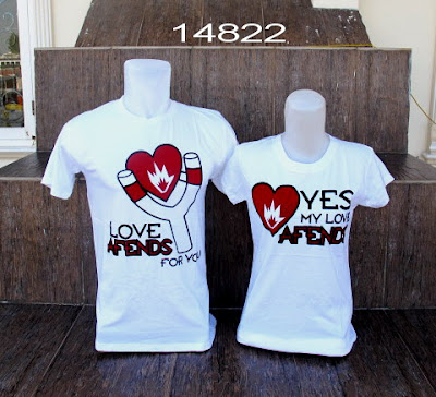 T-shirts patterned heart will be a trend