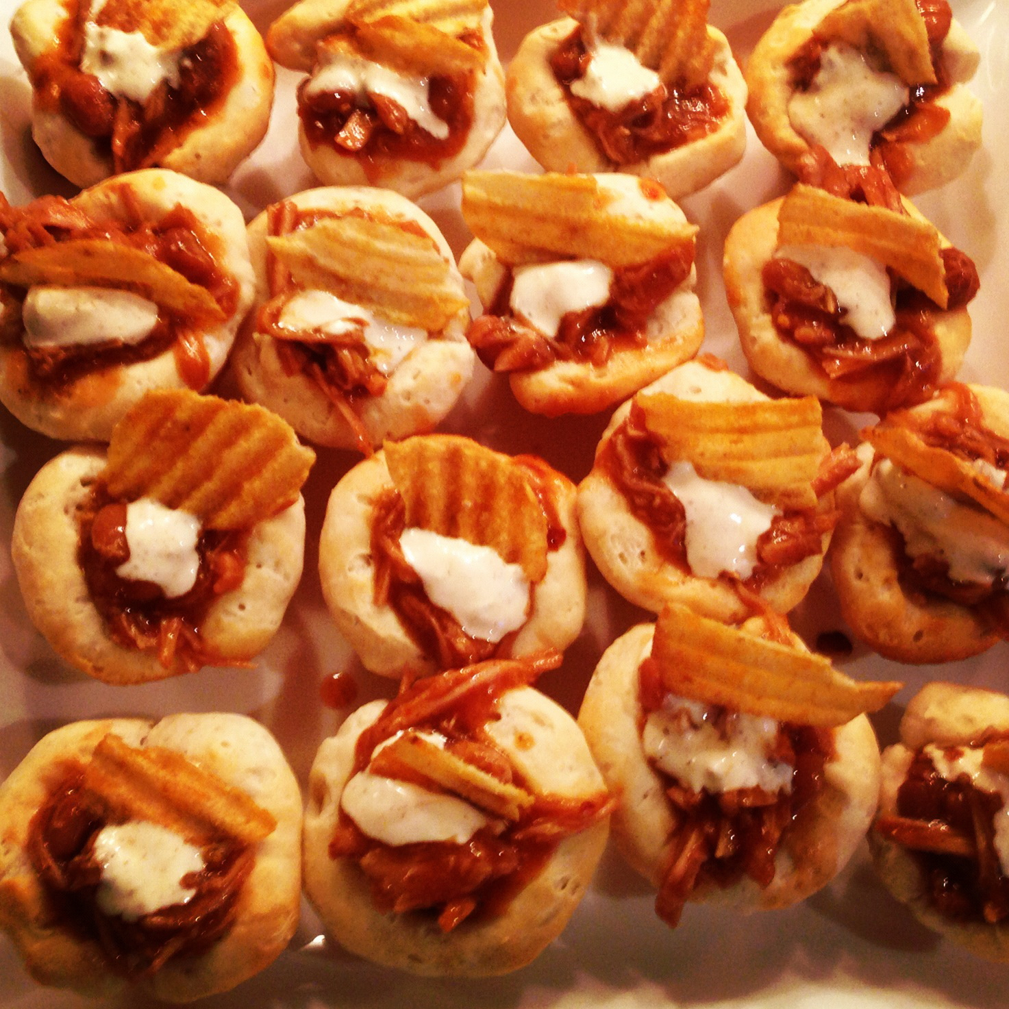 Maple Bacon Pulled Pork Baked Bean Bites - Abbey's Kitchen