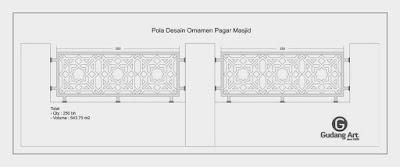 Desain pagar masjid cor aluminium