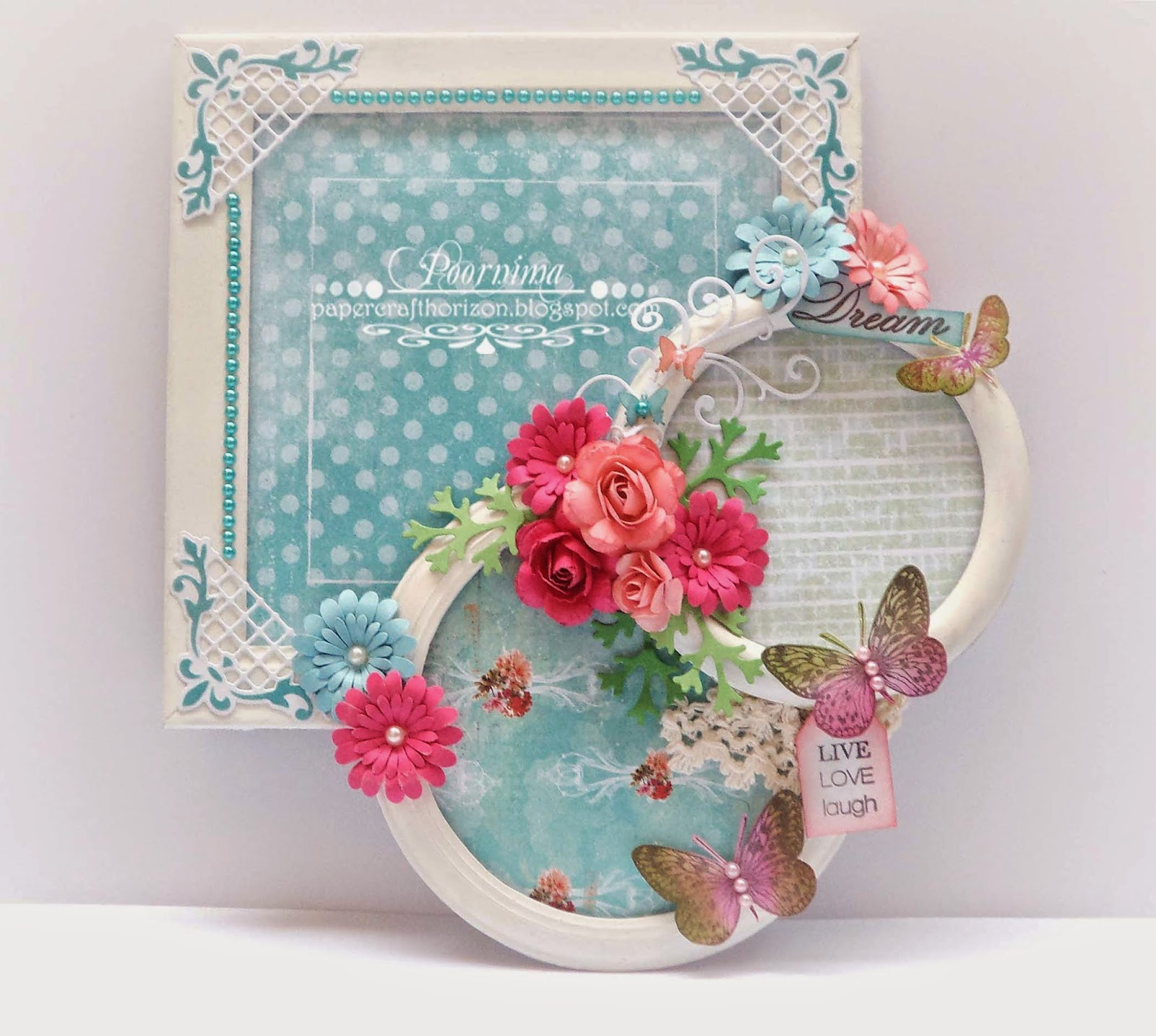 Paper craft horizon april 2015 i have first applied 2 coats of white acrylic paint on all the three pieces then added pretty prima pattern papersi have then glued them hot glue and jeuxipadfo Choice Image