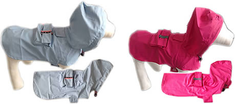 Dog Coats, lightweight, all dog breeds, Pink, Blue