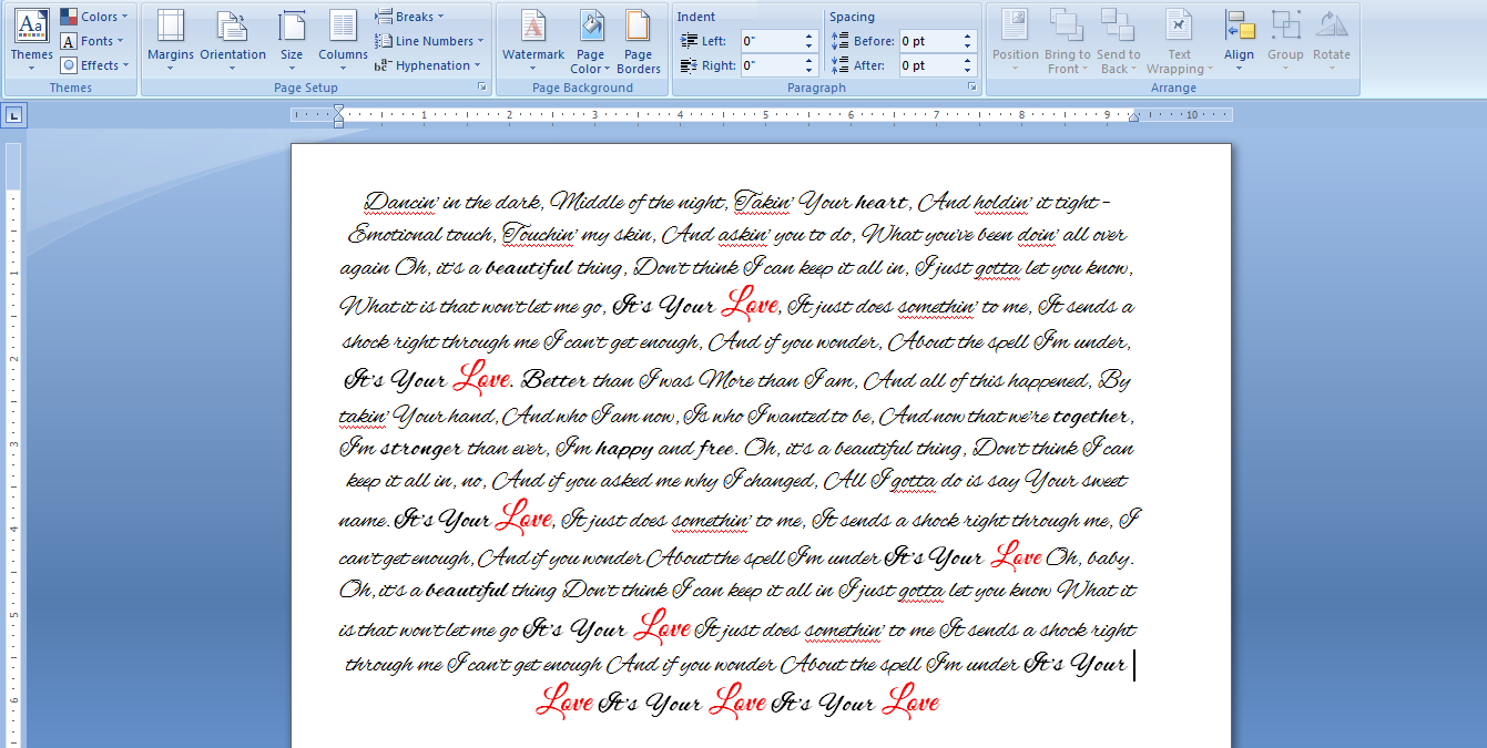 Microsoft Word, Writing words in the margins?